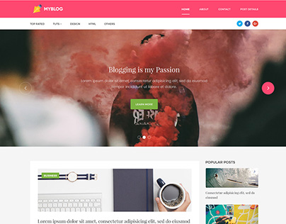 Free Personal Blog Template