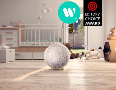 Ball Pouf animation - Full CGI