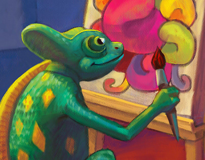 Chameleon is an artist by gelof