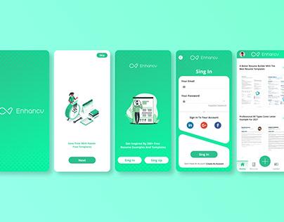 Enhancv UI / UX Design