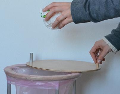 Rubbish bin using bent aluminum tubing