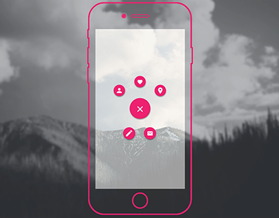 Material design - button animation