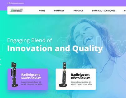 Medical Website UI HomePage