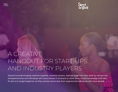 Start or Wait Website UI Design