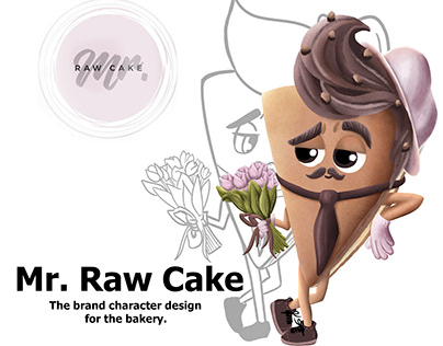 "Brand Character Design ""Mr. Raw Cake"""