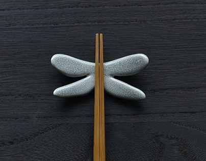 Chopstick rest of dragonfly