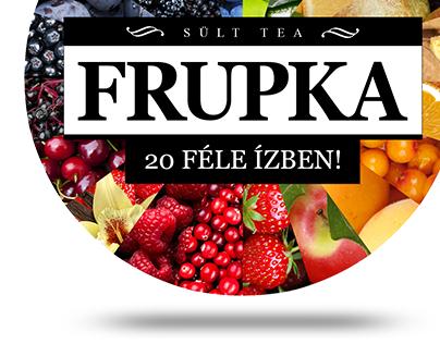 Baked tea label design (Frupka)
