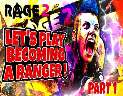 Rage 2 Youtube Gaming Thumbnail Design