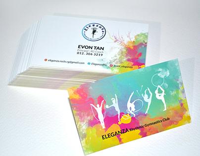 Eleganza Rhythmic Gymnastics Club /Business Card Design