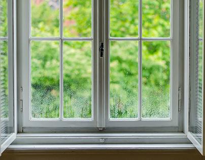 THROUGH THE WINDOWS AFTER EVENING RAIN