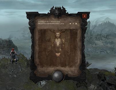 MMO RPG Game UI Practice For Diablo IV