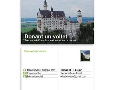 "VCard of blog: ""Donant un voltet"""