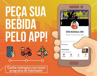 Flyer - Peça sua bebida pelo App