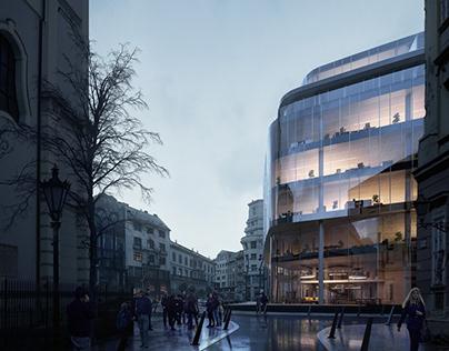 Szervita Square | Architectural Visualization