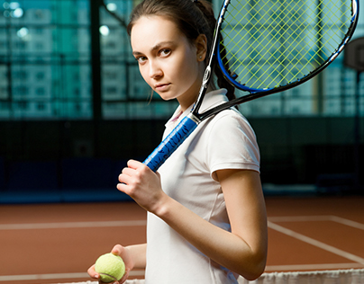 Tennis girl by Adidas for Sporttime magazine