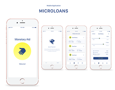 Microloans. Mobile Application. Design Concept