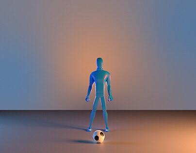Futbol freestyle animation (body mechanics)