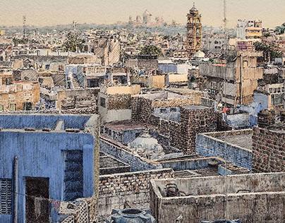 Jodhpur city skyline