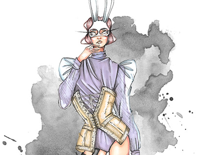 """Bunny"". Fashion illustration"
