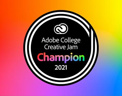 Award Badges for Adobe College Creative Jam