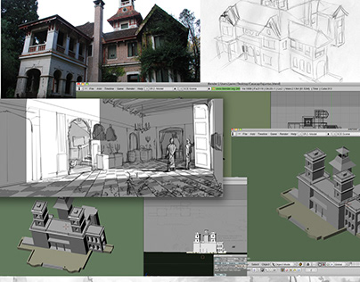 Pelicula Resurreccion Ilustracion y 3D para Storyboard