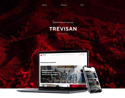 Дизайн главной страницы компании Trevisan