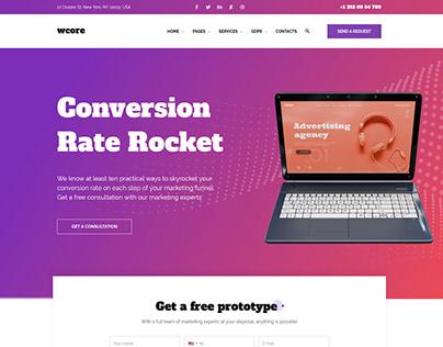Download wCore web design agency WordPress theme