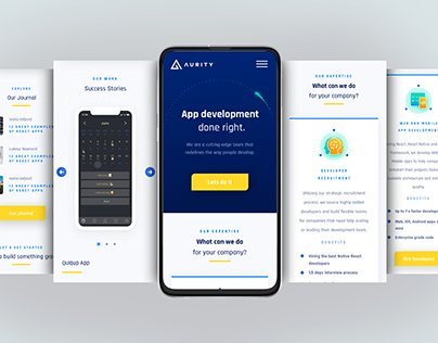 Web and mobile design for Software development company