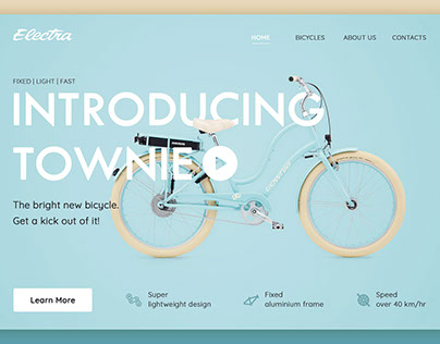 """website for electric bike """"townie"""""""