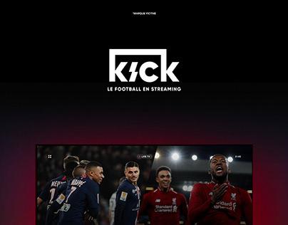 KICK | Football en streaming (marque fictive)