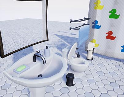 Stylized Bathroom Furniture [UE4]
