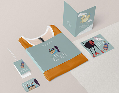 Corporate identity for clothing store