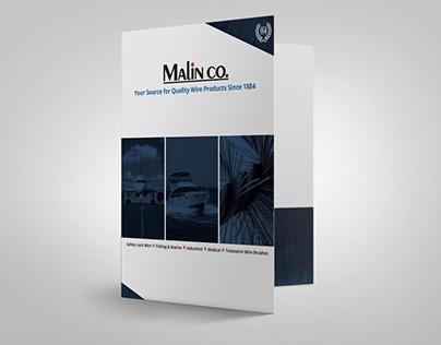 Malin Co. promotional materials pocket folder