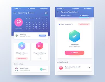 Mobile App for Student Activities- UI UX Design