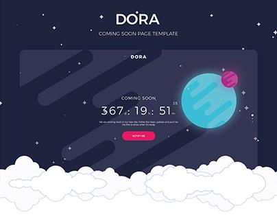 Dora Coming Soon Page UI