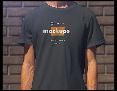 6 Mock-Ups Men T-Shirts Urban Style