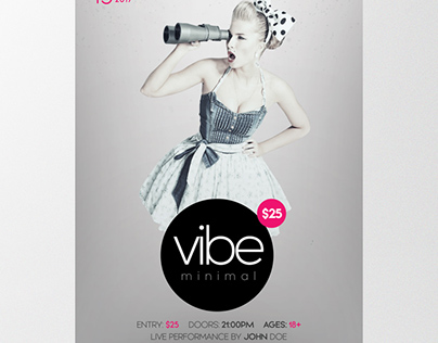 Vibe Minimal - Download Free PSD Flyer Template