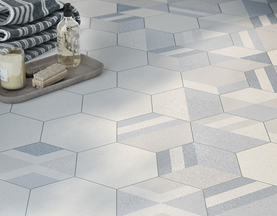 """City Rug"" porcelain tiles"