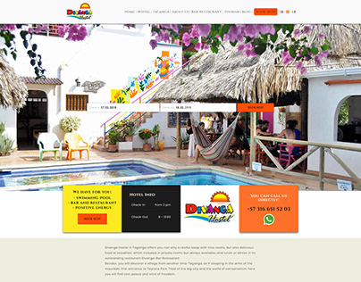 Website for a hostel in Colombia