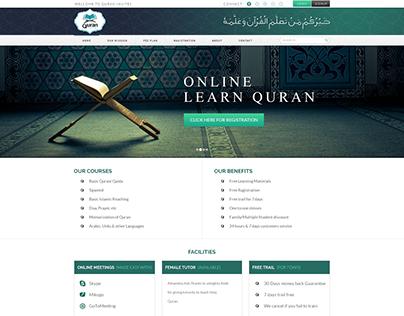 Re Design of Quran-Invites Web Page