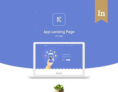 Knock – App Landing Page