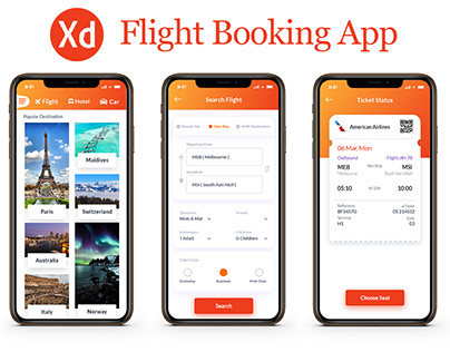 Flight Booking App UI Kit