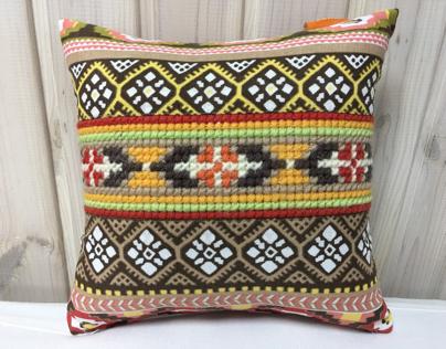 Ukrainian embroidered pillow