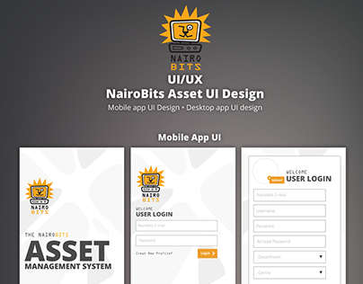 NairoBits : Asset App UI Design