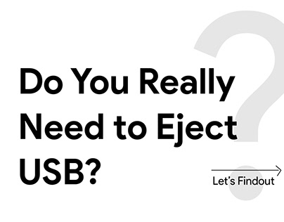 Do you really need to eject USBdrive?