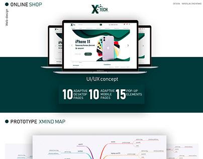 """Online shop """"Xtech"""""""