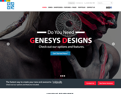 GENISYS is a Dummy Website for Genisys Portfolio.