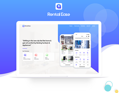 Rental Ease Website Promotion Page Design