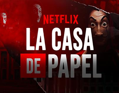' LA CASA DE PAPEL ' Posters Netflix