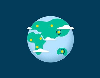 "Animated Gifs planet ""Earth"" + Cake, house, egg"